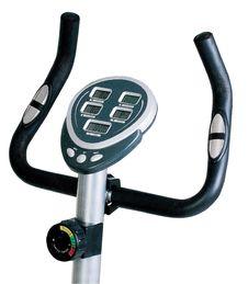 Free Stationary Bike. Gym Machine Royalty Free Stock Photo - 29582265