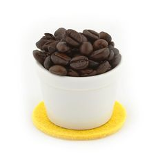 Free Cup Of Coffee Beans Royalty Free Stock Photography - 29585027