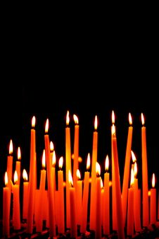 Free Burning Candles Royalty Free Stock Photos - 29586608