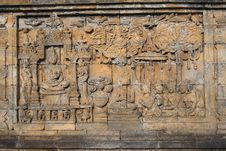 Free Bass-relief On The Wall In Borobudur Temple Stock Images - 29588954