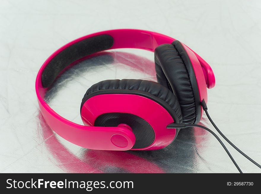 Pink headphone
