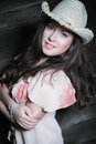 Free Sexy Woman With Cowboy Hat Stock Image - 29592991