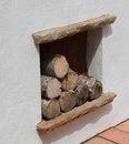 Free Firewood Log Store. Stock Photos - 29594283