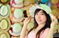 Free Beautiful Asian Woman With Hat Stock Photo - 29594860