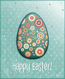 Vector Easter Egg Card Stock Photos