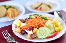 Free Closeup Of Vegetable Salad Stock Image - 29594861
