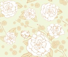 Free Floral Seamless Background. Royalty Free Stock Photography - 29595067