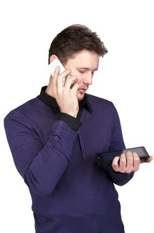 Free The Man On The Phone Stock Photo - 29595630