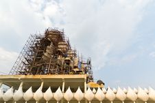 Free Buddha Statue Construction. Stock Photography - 29599632
