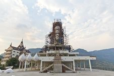 Free Buddha Statue Construction. Stock Photo - 29599790