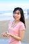 Free Beautiful Asian Woman Holding Shell Royalty Free Stock Photography - 29594807