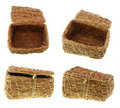 Free Hand-made Straw  Basket Stock Images - 2964824