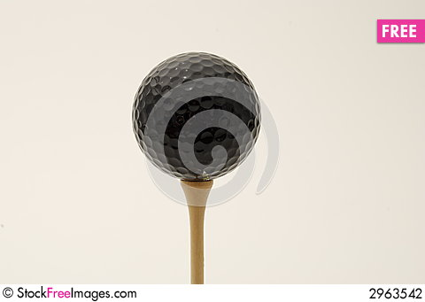 Free Black Golf Ball Stock Photography - 2963542