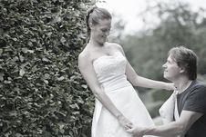 Bridal Couple Posing Royalty Free Stock Photography