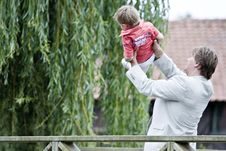 Free Groom And Son On The Bridge Stock Images - 2960354