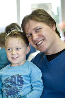 Free Portrait Of Father And Son Stock Photography - 2960552