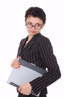 Free The Woman With Notebook Royalty Free Stock Photography - 2960737