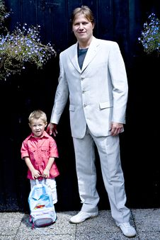 Free Portrait Of Groom And Son Stock Photography - 2960782