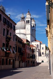Free Venice - White Church Royalty Free Stock Photography - 2961377