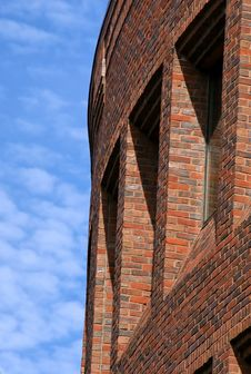 Curved Brick Building Royalty Free Stock Photo