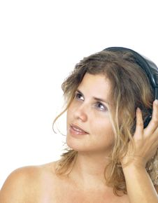 Free Woman With Headphones Stock Photos - 2962753