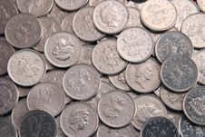 Free Five Pence Coins Royalty Free Stock Photo - 2963085