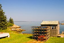 Free Maine Fishing Shack On Cove Stock Photos - 2963693