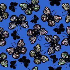 Free Seamless Wallpaper Butterflies Stock Image - 2963731