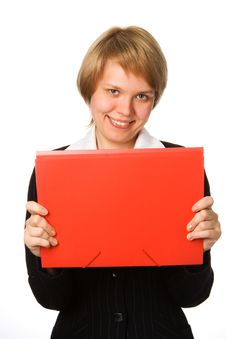 Free Businesswoman With Folder Stock Photo - 2963970