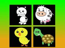 Stylized Domestic Animals Stock Image