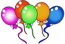 Free Colorful Balloons Royalty Free Stock Photography - 2965147