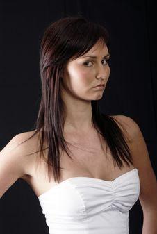 Free Pretty Girl In White Top Stock Image - 2965541