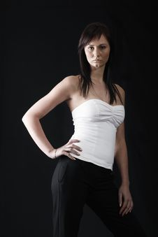 Free Pretty Girl In White Top Stock Photos - 2965553