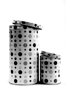Free Black And White Dots Stock Photography - 2965792
