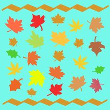 Free Autumn Leaves Illustrated Royalty Free Stock Image - 2965916