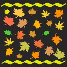 Free Autumn Leaves Illustrated Royalty Free Stock Photography - 2965917