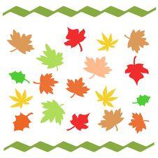 Free Autumn Leaves Illustrated Stock Photo - 2965920