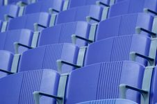 Free Purple Stadium Seats Royalty Free Stock Image - 2968566