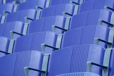 Free Purple Stadium Seats Royalty Free Stock Image - 2968566