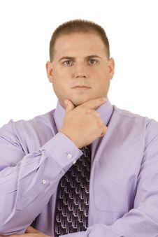 Thoughtful Businessman Royalty Free Stock Photo