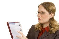 Free Businesswoman Writing Stock Photo - 2968820