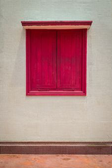 A Red Window Stock Image