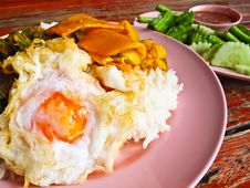 Free Fried Egg Topped On The Rice Royalty Free Stock Images - 29603659