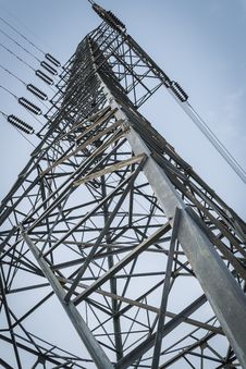 A High- Voltage Tower Stock Photography