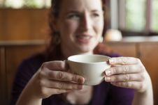 Free Woman Holding Her Morning Cup Of Coffee Stock Images - 29603914