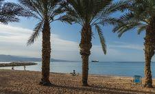 Free Sandy Beach Of Eilat, Israel Stock Photo - 29607260