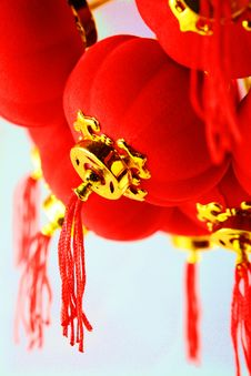 Free Red Lanterns Decoration Royalty Free Stock Photos - 29609858