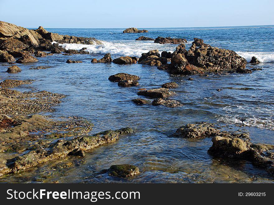 Laguna Beach coastline north of the Main Beach.