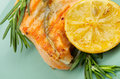 Free Grilled Salmon Royalty Free Stock Photography - 29612407