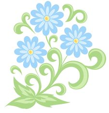 Free Blue Daisies In Soft Colors. Isolated On White Royalty Free Stock Image - 29617586